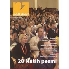 NAŠI ZBORI, letnik 2008, posebna skupna številka »20 NAŠIH PESMI«